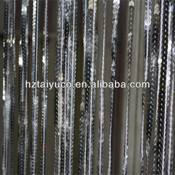 Silver And Gold Sequins String Curtain Vertical Stripe