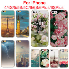 Stunning Senery Painted Soft TPU For Apple iPhone 5 5S  Mobile Phone Back Skin Cases Cover WHD1439