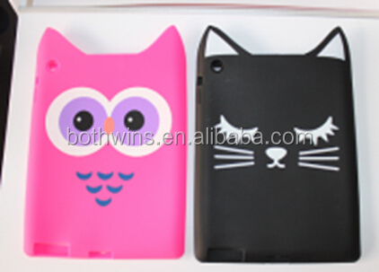 cat shaped silicone case for iPad2/3