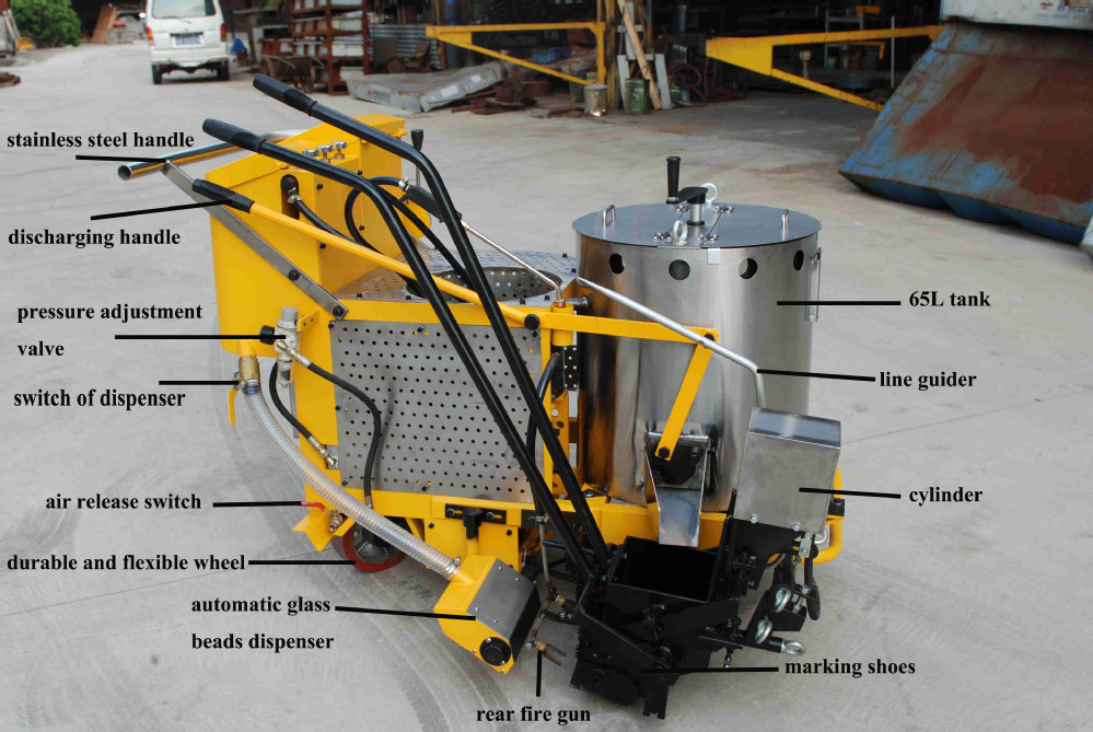 road markings machine