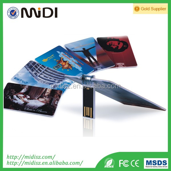 Credit card usb flash drive wholesale customize any usb pendrive 8GB