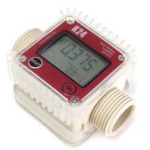 High Quality Pro K24 Digital Fuel Flow Meter for Chemicals water random color New Arrival