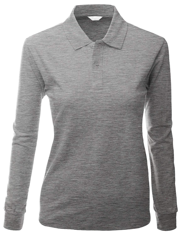 5d8b6a46b2f Buy Xpril Womens cotton PK Silket Polo Dri Fit Long sleeve Collar T ...