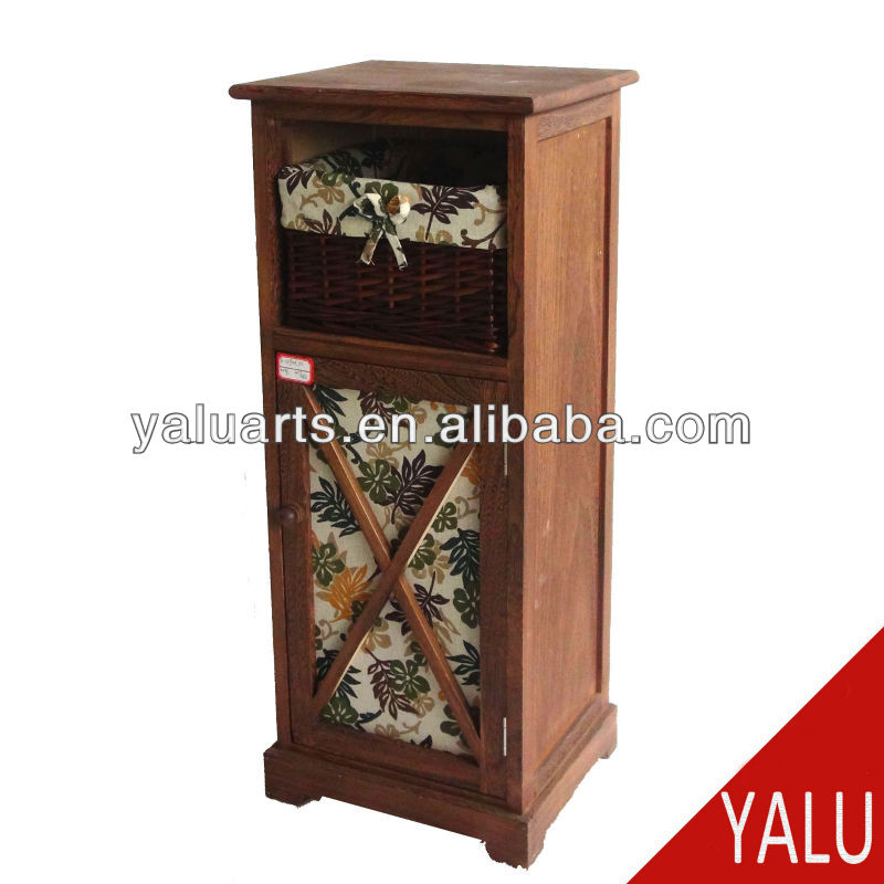 paulownia wood chest in carbonized color with paper rope drawers
