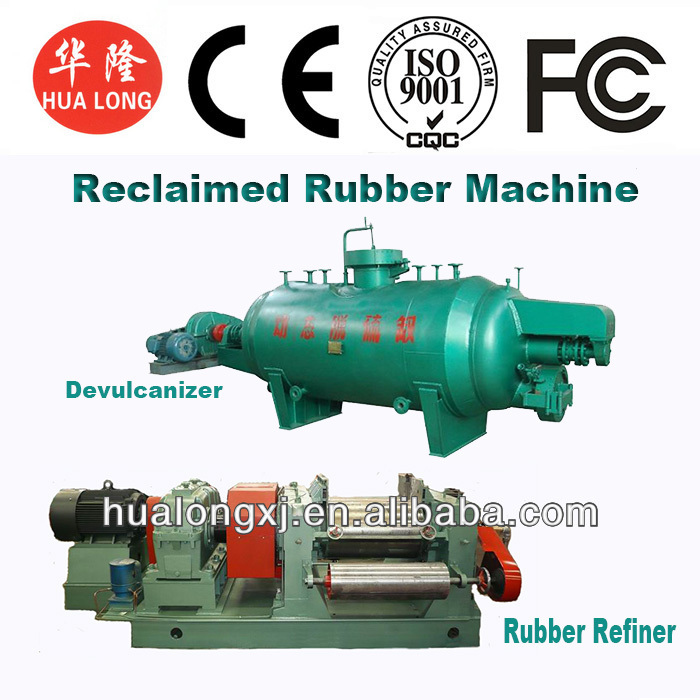tire recycling rubber used production reclaimed rubber machine