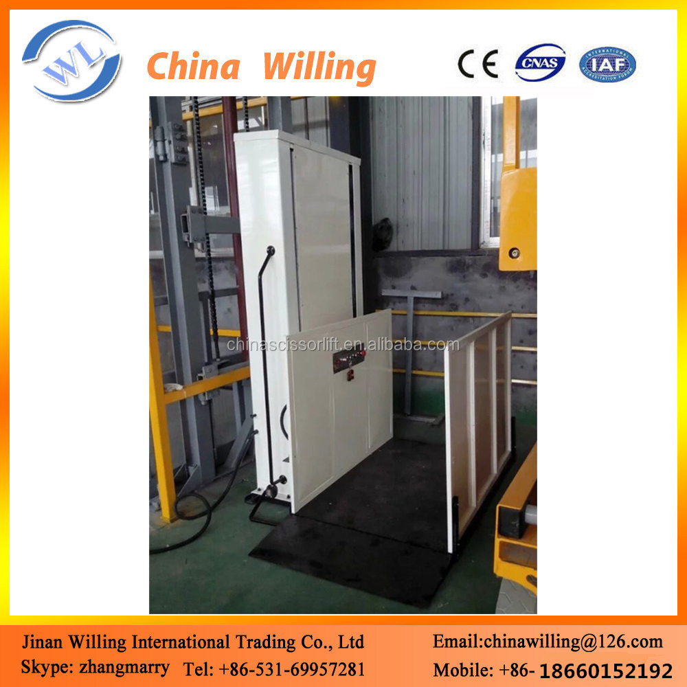 Hot sale OEM wheelchair lift hydraulic elevator for disabled person ce