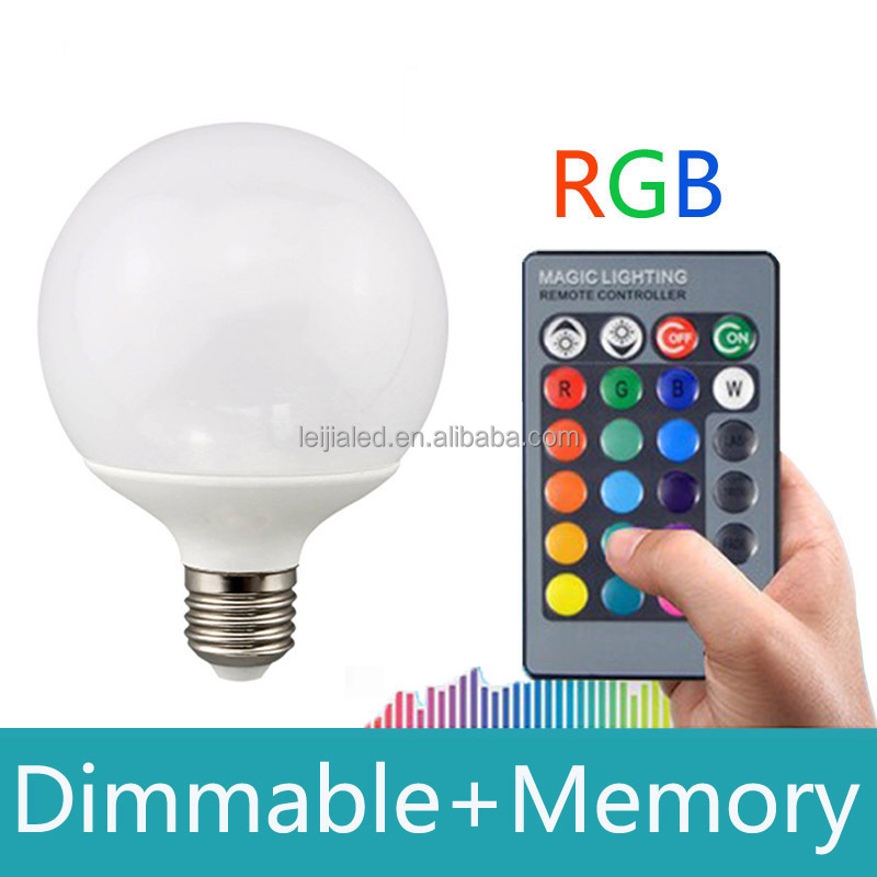 Multicolor E27 LED Bulb Dimmable AC 85-265v RGB LED <strong>Lamp</strong> with remote control and memory for Christmas Lights