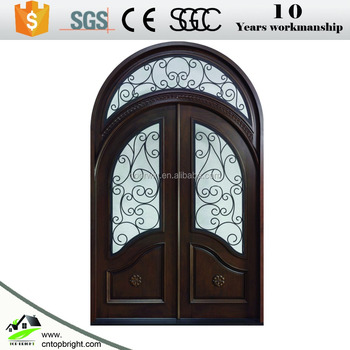 Wholesale iron glass exterior entry wrought iron door for home ...
