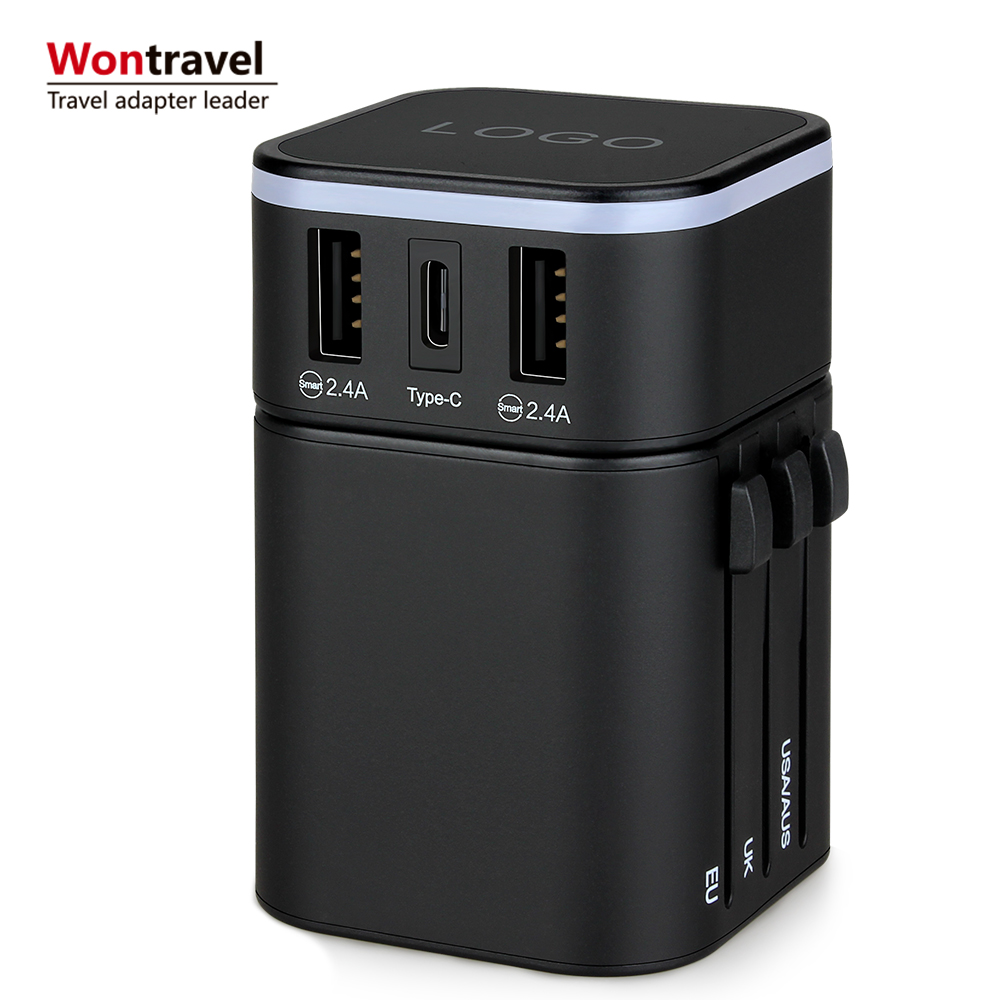 2019 international travel adapter USB charger accessory christmas <strong>gifts</strong> wedding giveaway <strong>gift</strong>