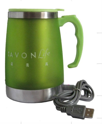 stainless steel electric auto car plug mug