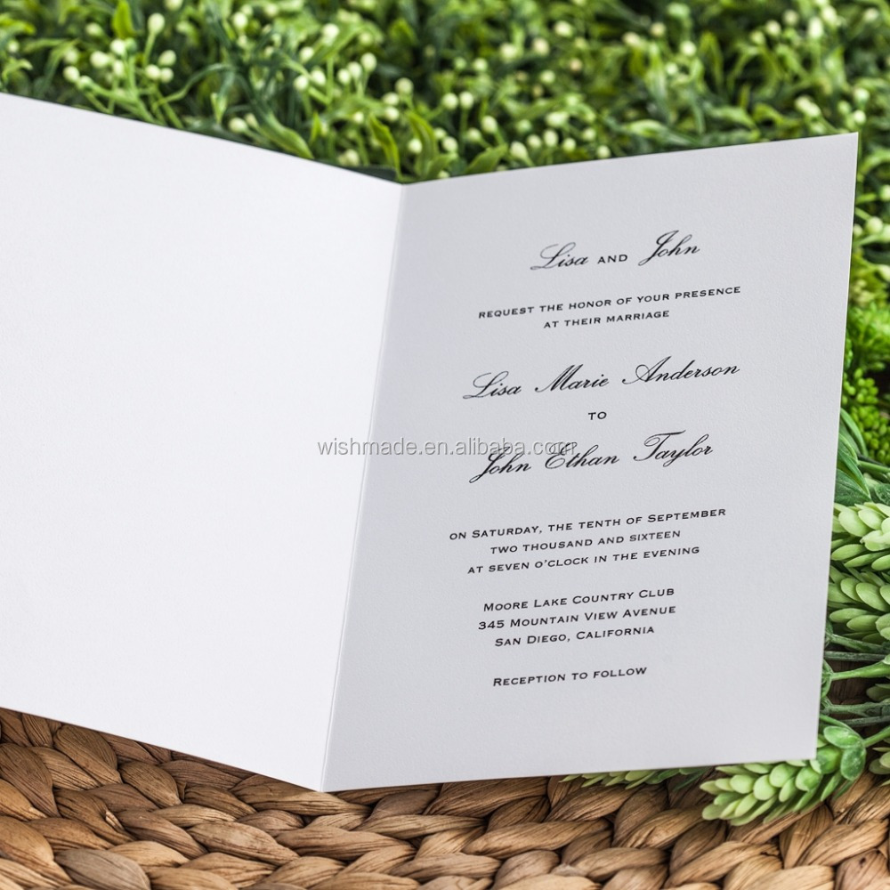 Elegant Garden Style Laser Cut Wedding Invitation Card In White ...
