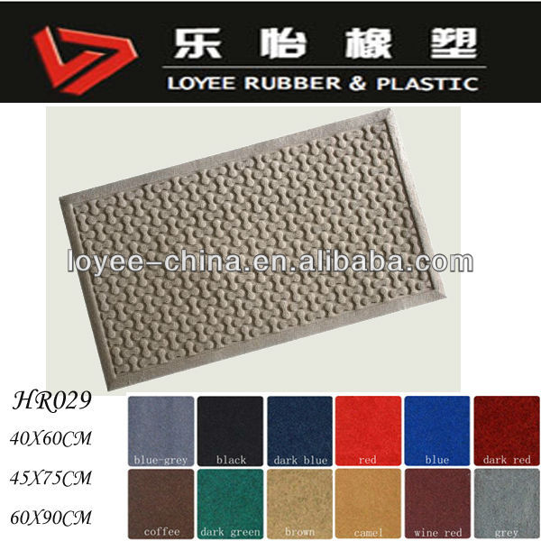 100% Polyester Fibers Surface Designer Non Slip Carpet Door Mat