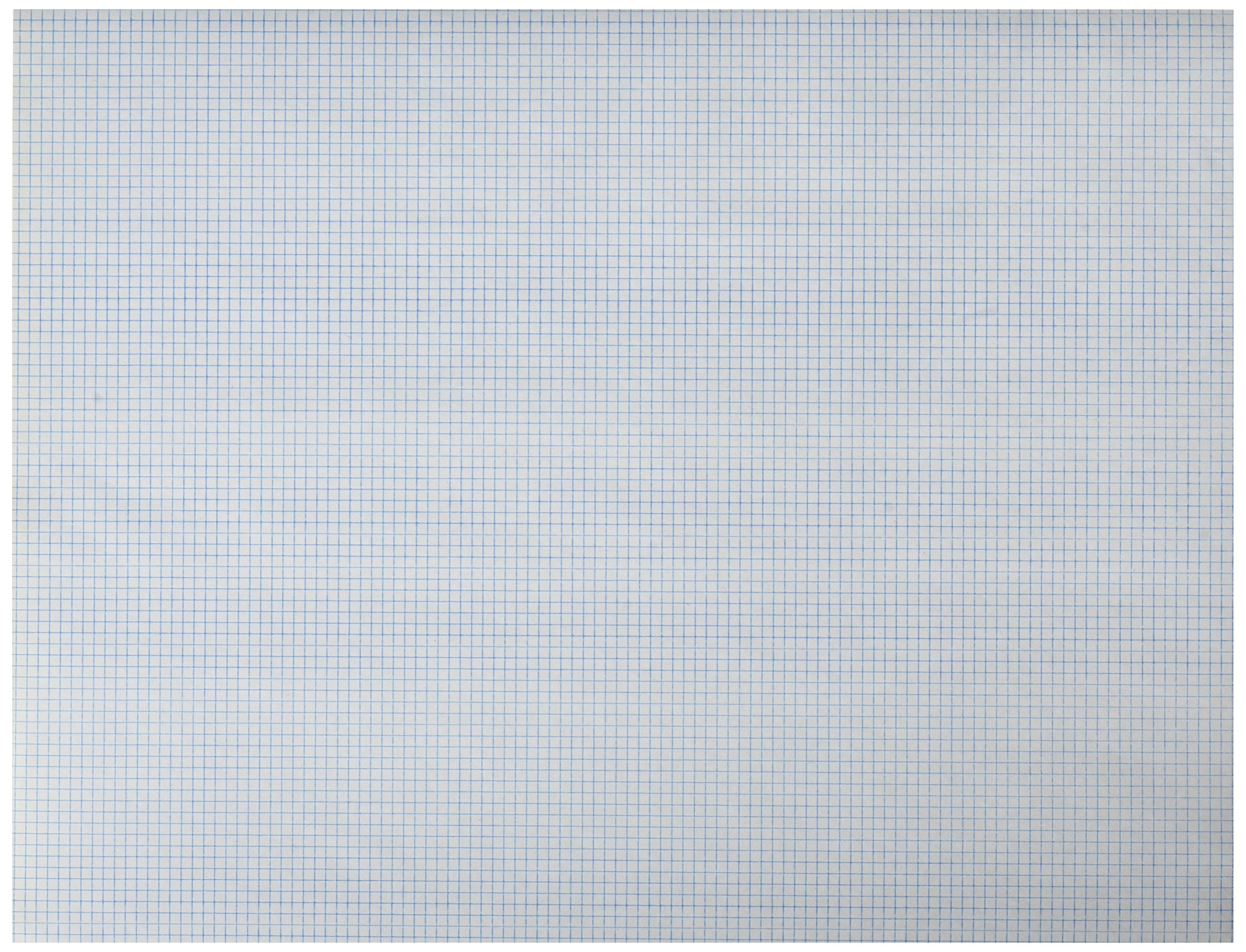 School Smart 16 pound Bond 1/10 in Ruled Graph Paper - 8 1/2 x 11 inches - Pack of 500 - White