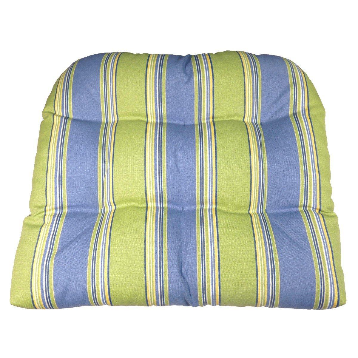 Buy Patio Chair Cushion Hampton Bay Blue Green Cabana