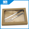 stainless steel knife and fork