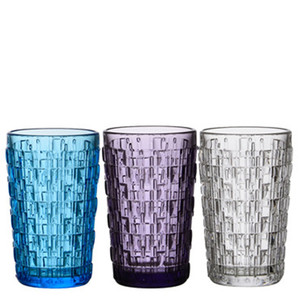 Customized colored wine glass tumbler cups