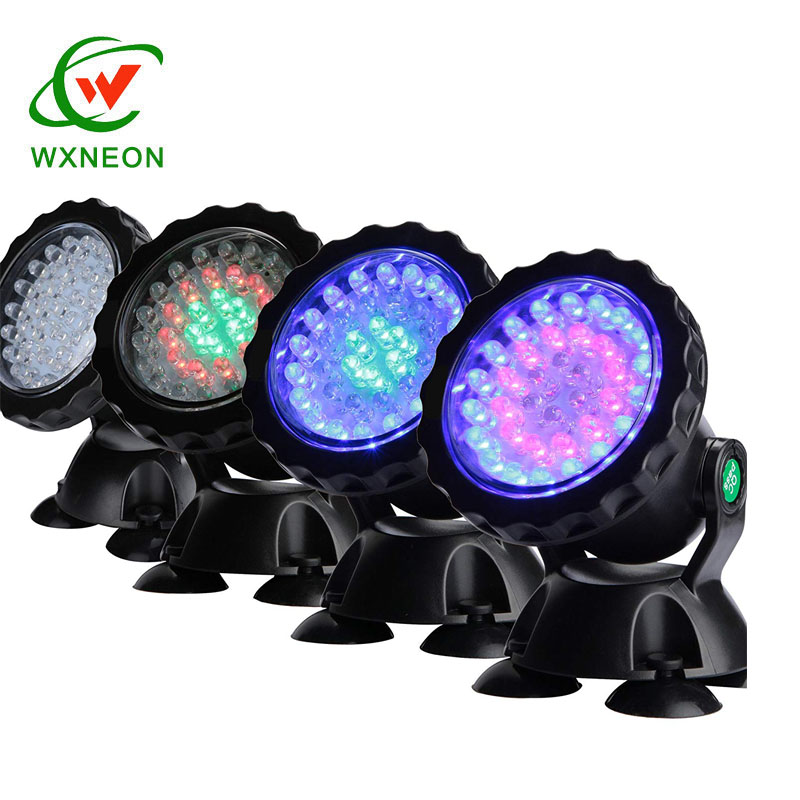 IP68 Onderwater Aquarium Spotlight 36LED Multicolor Decoratie Landschap Lamp voor Gazon Zwembad Vis Fontein