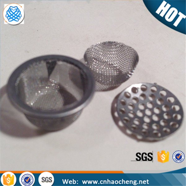 Dome shape stainless steel mesh tobacco crystal smoking pipe filter screen