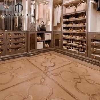 Natural Oak Floor Wooden Tiles Solid Teak Wood Inlay Parquet Wooden