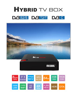2018 Newest Solution KIII pro DVB S2 android 7 1 satellite tv receiver  decoder