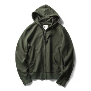 Custom made zipper fleece jackets with hoodies unisex plain zip up hoodie