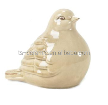 Chinese ceramic animal shape decor glazed bird pet prodcuts