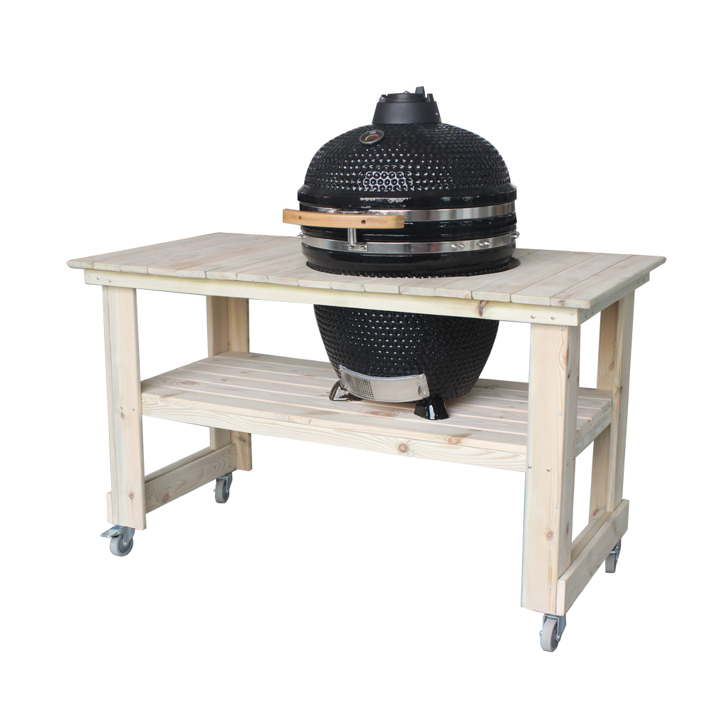 2019 Luxe Outdoor Cooking Set Kamado Ei BBQ Roker Grill