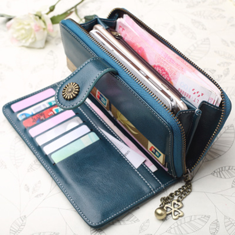 2019 New Fashion Women Leather <strong>Wallet</strong> Women Long Design Purse For Wholesale