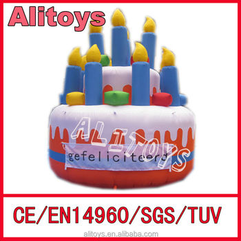 Ali Pvc Inflatable Birthday Cake For Advertising Inflatable Model