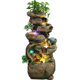 Retail high quality resin small artificial rock waterfall water fountain for sale