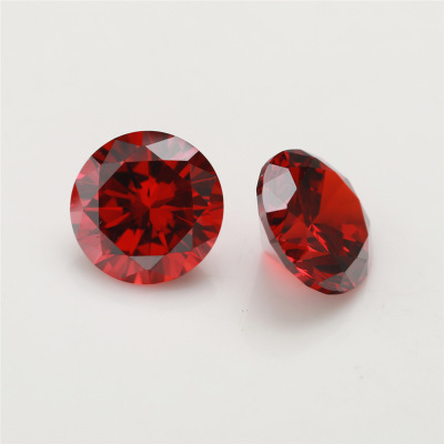 1.5 carat 7.43mm Red moissanite round shape top quality loose <strong>stones</strong> genuine forever one moissanite diamond