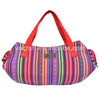Ladies Folk Style Colorful Shoulder Bag With Iphone Case