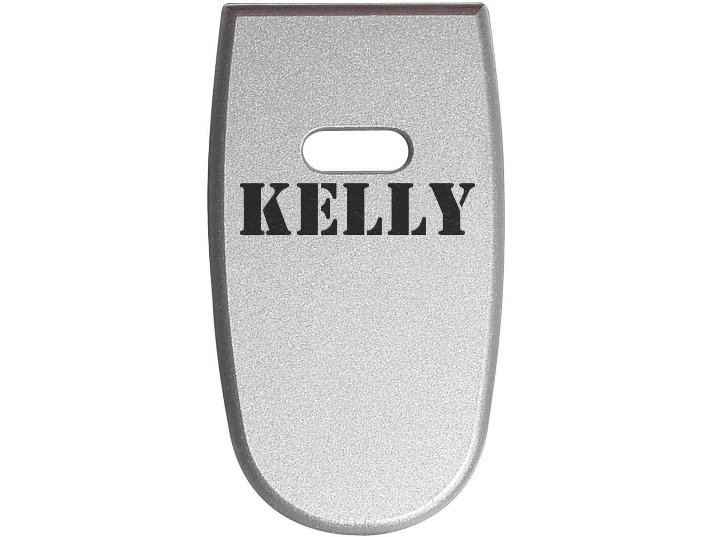 for S&W M&P Shield .45 Aluminum Floor Base Plate Silver Custom Laser Engraved: Name Kelly By NDZ Performance