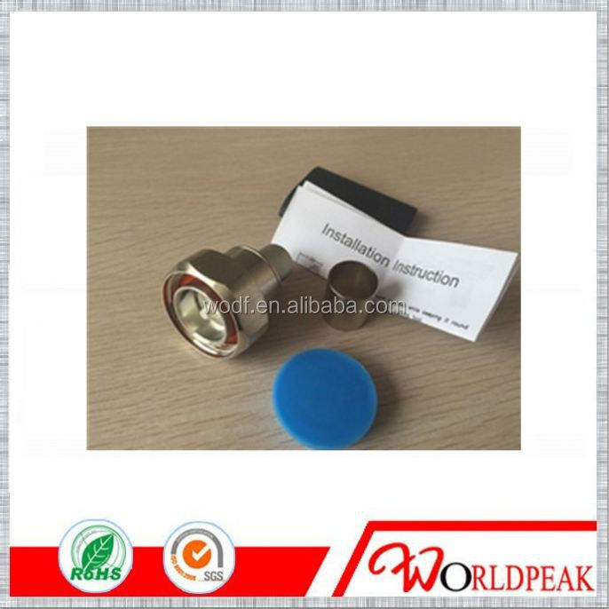 brass Male connector 7/16 DIN Type Male Str LMR600 Feeder cable radio frequenc