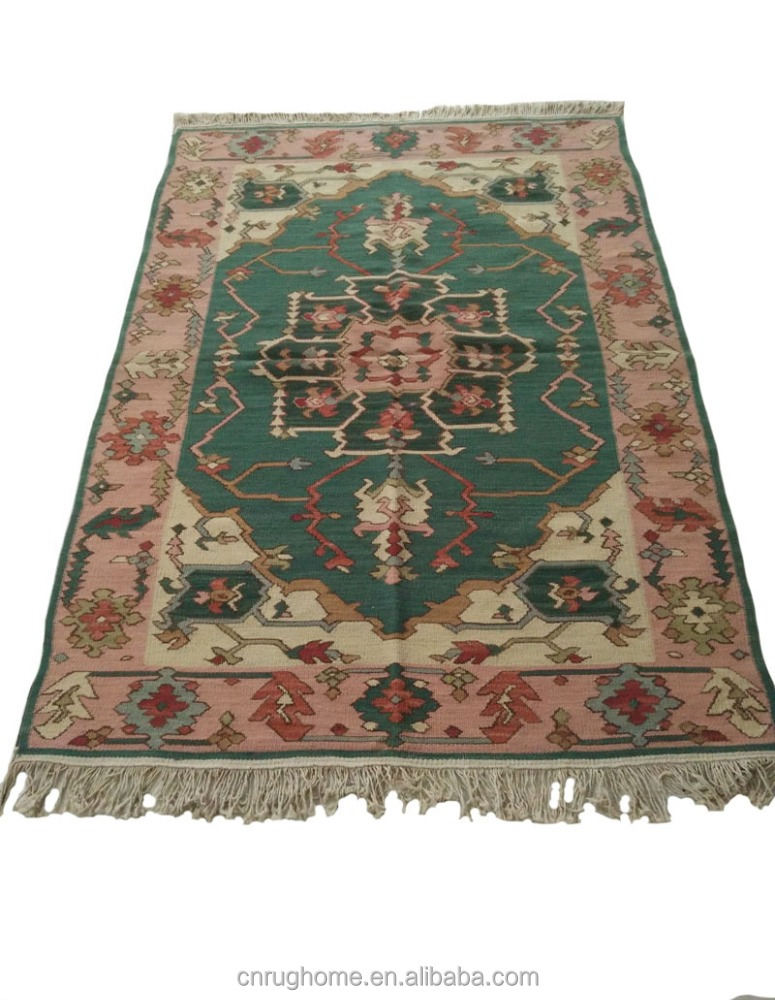 Indian Kilim Strong Rug Hand Knotted Wool