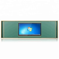 Push and pull magnetic sliding chalkboard greenboard dry erase green board fixed with smart board