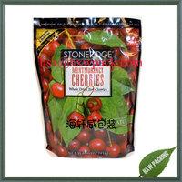 flat bottom fresh fruit vegetable plastic packing bag, dried cherry packing bag, supermarket grape packing bag