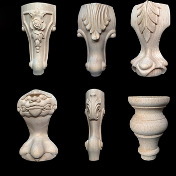 Unfinished Wood Antique Furniture Legs