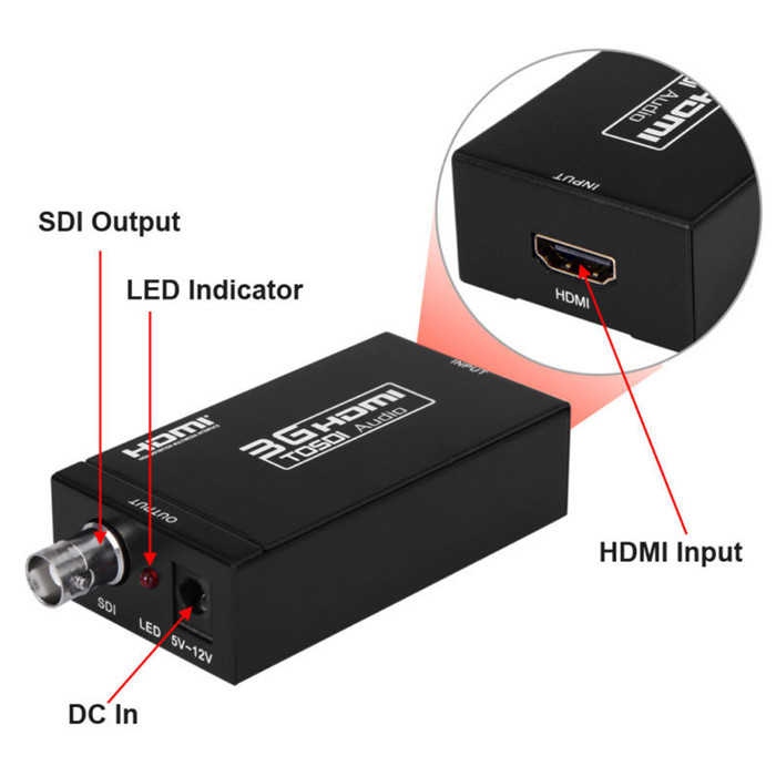 1080P HDMI to SDI converter adapter for Camera