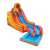 Giant volcano inflatable slip n slide , portable fire and ice inflatable water slide