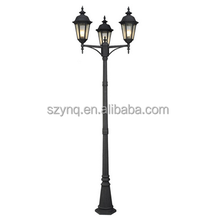 Classic garden outdoor lamp post with three head for garden , park , street decor.