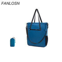 Foldable Messenger Bag College Handbag Organizer Nylon Foldable Tote Bag with Shoulder Strap
