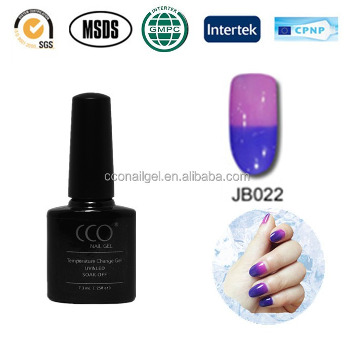 CCO 15ml uv gel temperature change Color Changing Top Lady Nail Polish