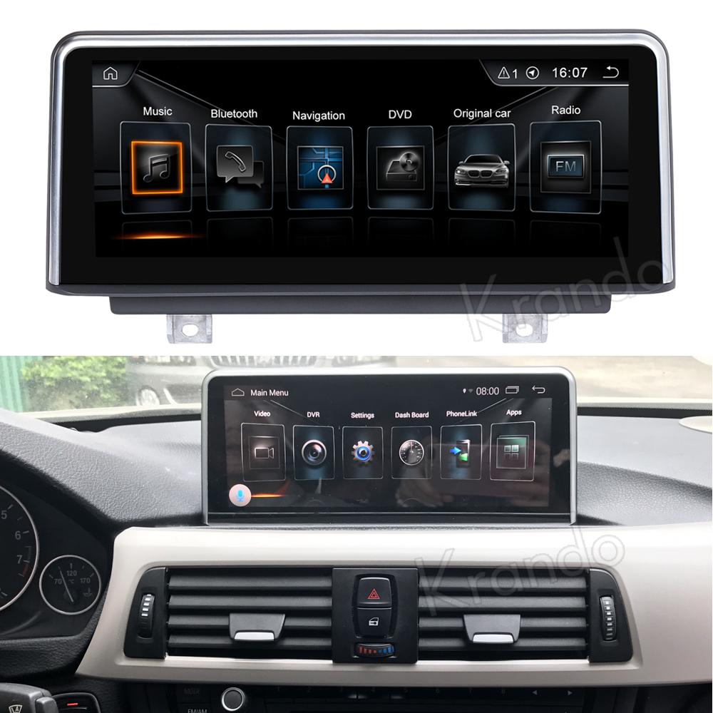 Krando 10.25'' android car radio multimedia for bmw F30 F31 F34 F32 F33 F36 navigation with gps system