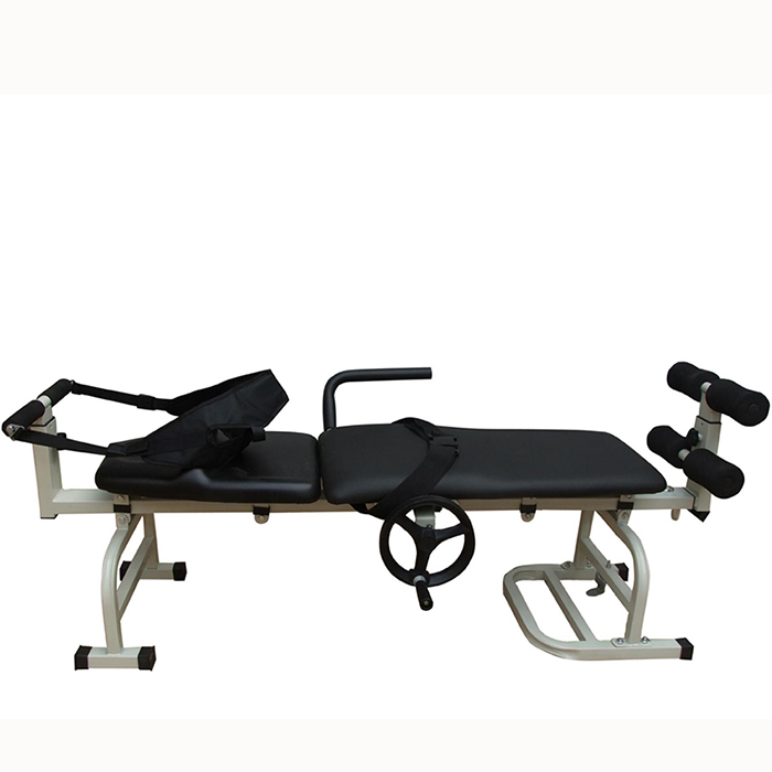 Hospital Furniture Genuine Leather body stretching device cervical traction bed