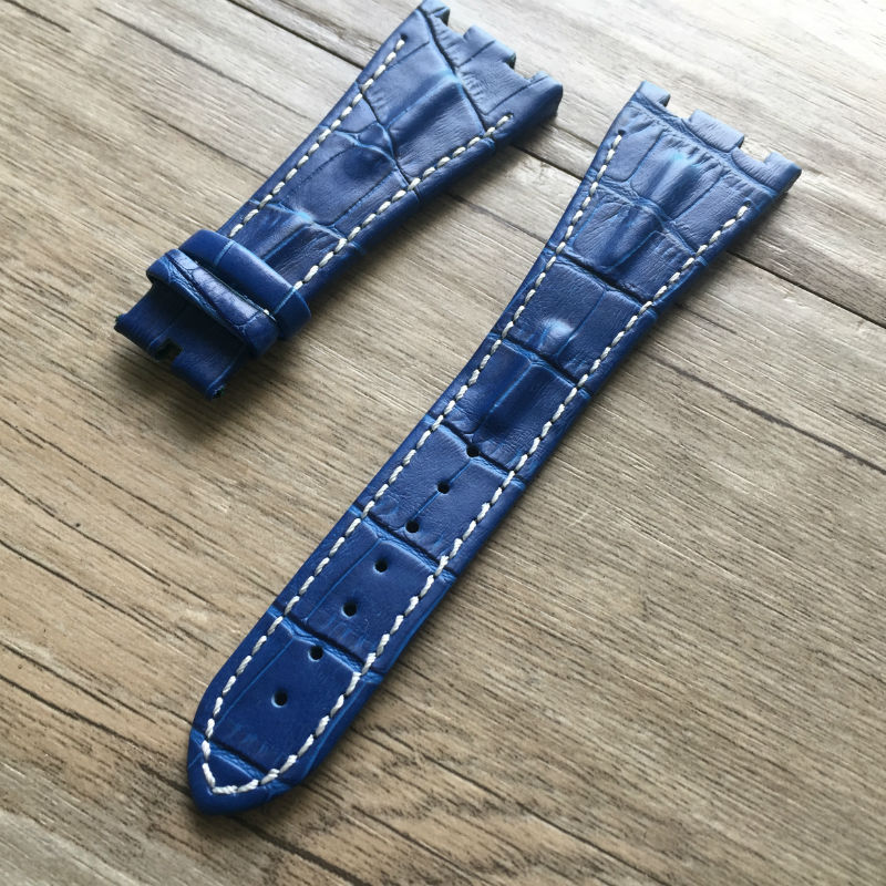 AP strap 28MM big fold buckle from durable no smell real leather strap