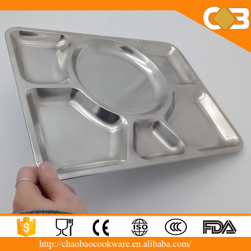 Wholesale Fast Food Tray Stainless Steel Mess Tray
