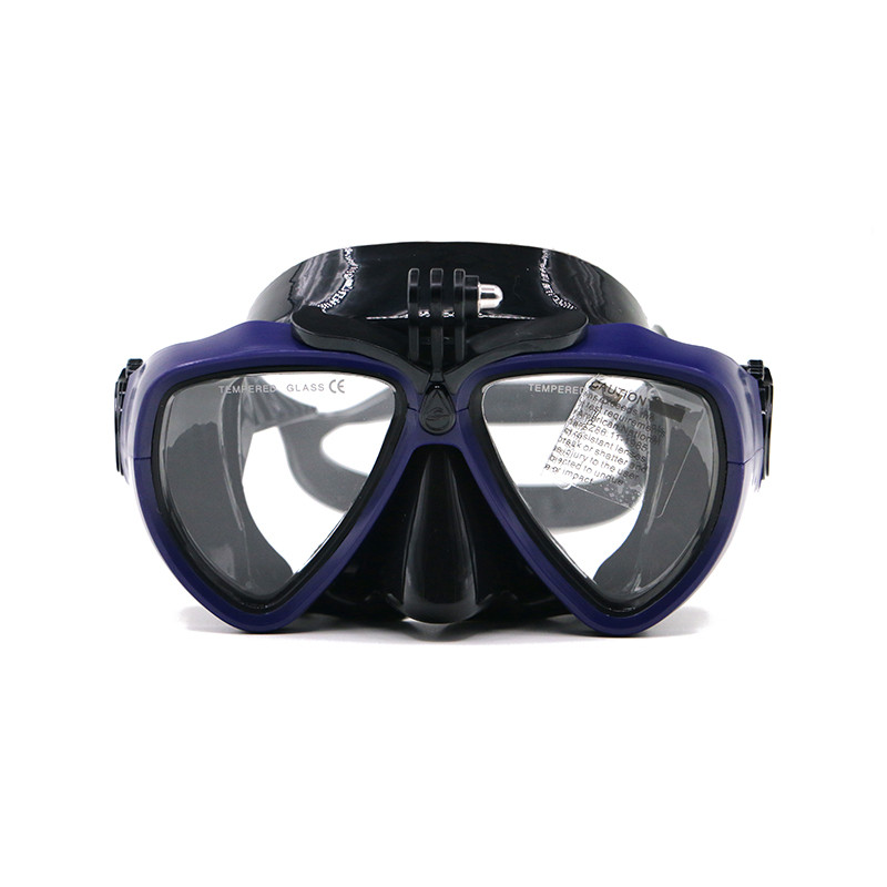 Purple Underwater camera Tempered glass gopro diving mask