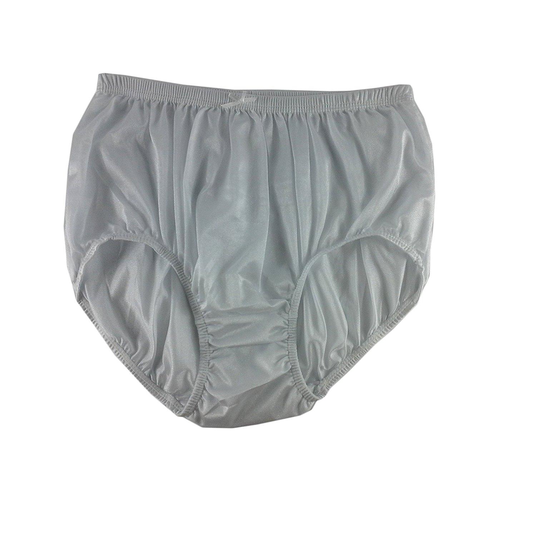 368f791ef925 Granny White Plain Panties Briefs Sheer Nylon Underwear For Women & Men  Plus Size