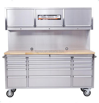 Awe Inspiring Heavy Duty Stainless Steel Workshop Storage Bench With Drawer And Wood Top Buy Workshop Storage Steel Work Bench With Drawers Heavy Duty Steel Work Spiritservingveterans Wood Chair Design Ideas Spiritservingveteransorg